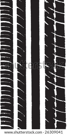 Vector Graphic of a car tyre track