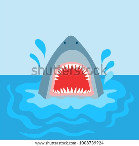 vector graphic of a shark with