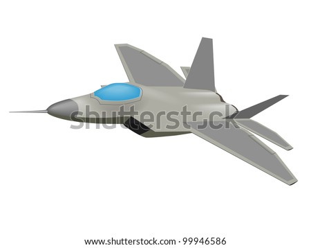 vector graphic of an f 22