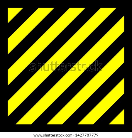 Vector graphic of diagonal black lines on a yellow background and surrounded with a black border. This signifies danger or a hazard
