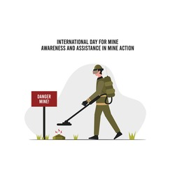 vector graphic of international day for mine awareness and assistance in mine action good for day for mine awareness and assistance in mine action celebration. flat design. flyer design.