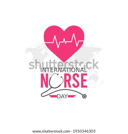 vector graphic of international nurse day good for international nurse day celebration. flat design. flyer design.flat illustration.