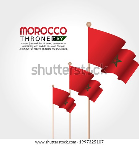 vector graphic of Morocco throne day good for Morocco throne day celebration. flat design. flyer design.flat illustration.