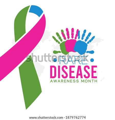 vector graphic of rare disease awareness month good for rare disease awareness month celebration. flat design. flyer design.flat illustration. Foto stock ©