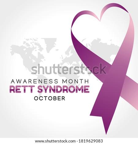 Vector graphic of rett syndrome awareness month good for rett syndrome awareness month celebration. flat design. flyer design.flat illustration. Stock fotó ©