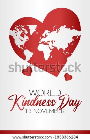 vector graphic of world kindness day good for world kindness day celebration. flat design. flyer design.flat illustration. Photo stock ©