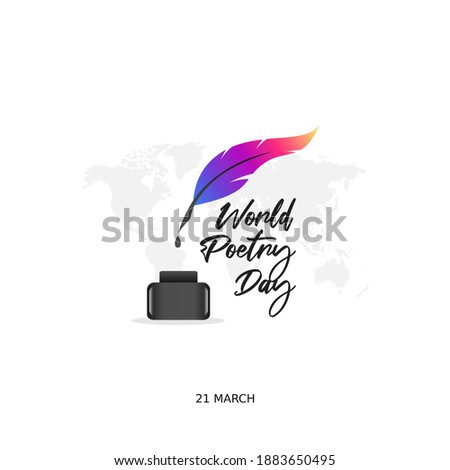 vector graphic of world poetry day good for world poetry day celebration. flat design. flyer design.flat illustration. Сток-фото ©