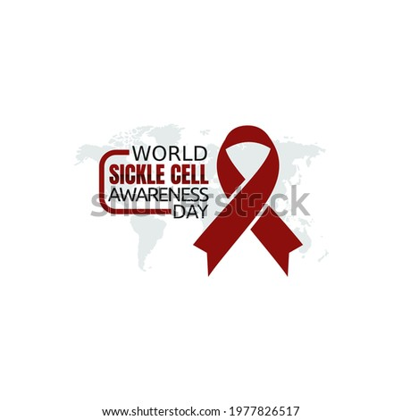 vector graphic of world sickle cell awareness day good for world sickle cell awareness day celebration. flat design. flyer design.flat illustration. Сток-фото ©