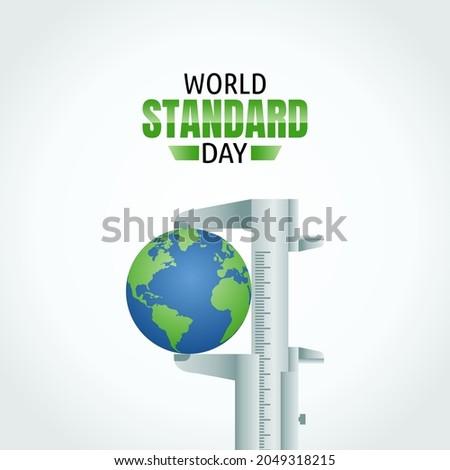 vector graphic of world standard day good for world standard day celebration. flat design. flyer design.flat illustration.