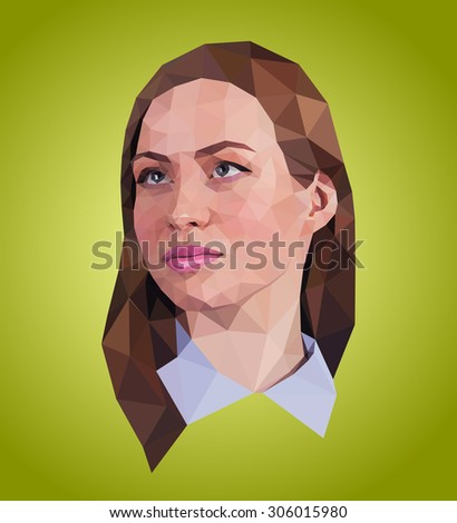 vector graphic polygon face of