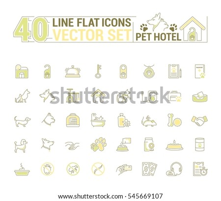 vector graphic set icons in