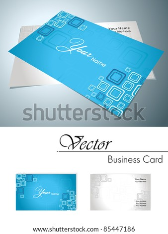 vector graphic shapes corporate business card