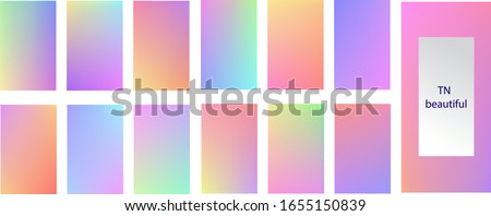 Vector graphics. EPS10.  The history of social networking soft colorful theme package. Rainbow graphic display, Wallpaper. bright mobile app design mixing kit bright duo color template
