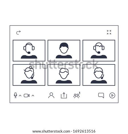 Vector graphics . EPS-10. Videoconferencing.