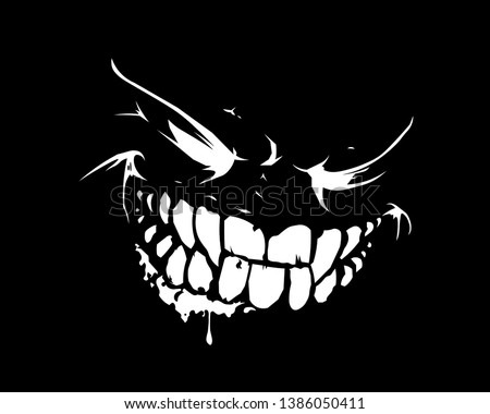 vector graphics face on black