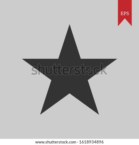 Vector graphics of star graphics, it can be used for icons, web logos, profile icons and even application logos,