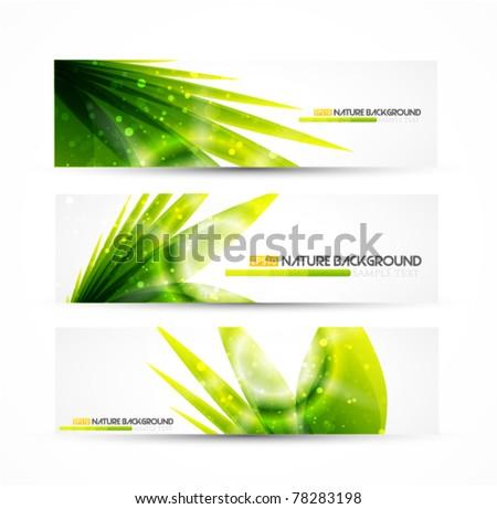 Vector grass banner
