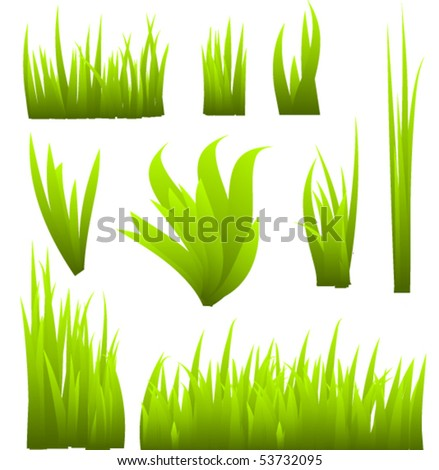 vector grass elements