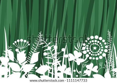 Vector grass seamless pattern.