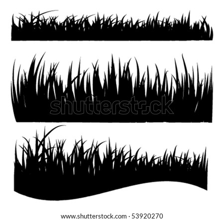 vector grass silhouettes - stock vector