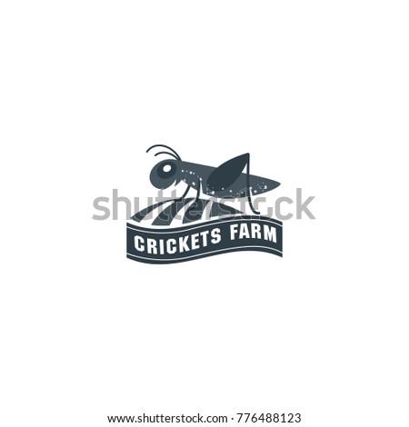 vector grasshopper logo. brand...
