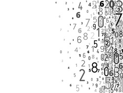 Vector gray black colored background  from numbers with copyspace center