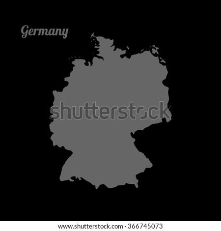 vector gray map germany gray