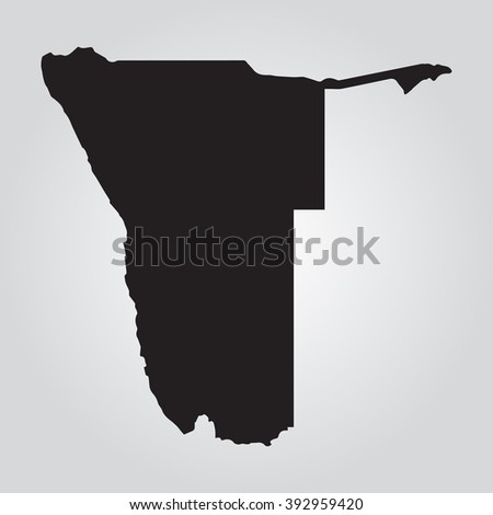 vector gray map namibia grey