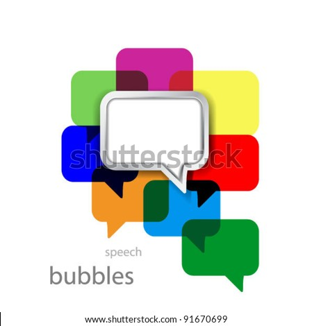 Vector gray metal bubble over bunch of colorful bubbles - stock vector