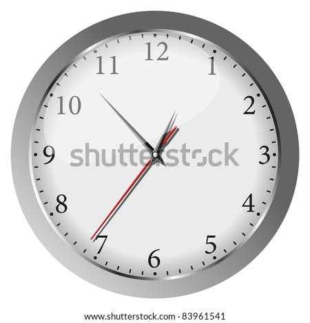 Vector gray wall clock