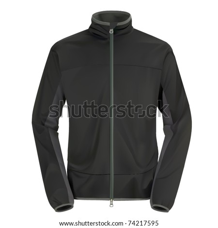 vector gray windstopping jacket