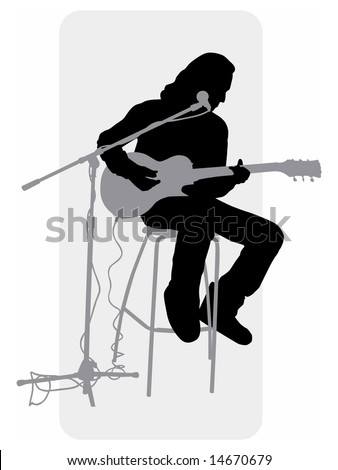 vector grayscale silhouette