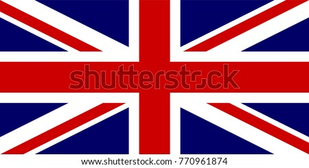 vector Great Britain flag. Official goverment United Kingdom of Great Britain and Northern Ireland flag Union Flag and Naval Jack ration 1:2. British flag standard. British military and civil UNKG4003