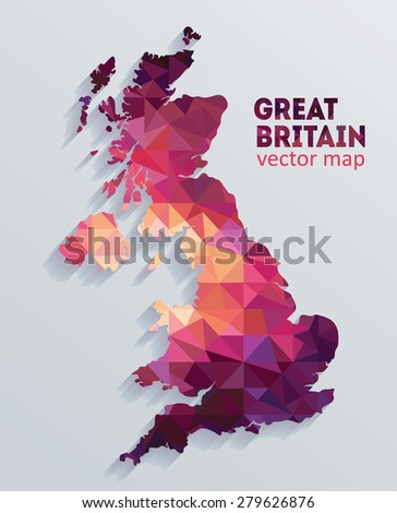 vector great britain map