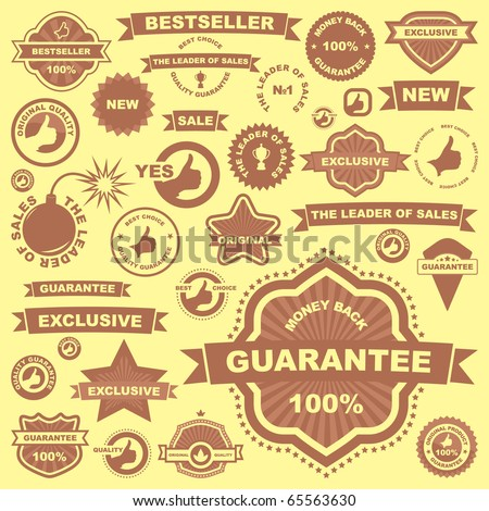 Vector great collection of sale signs. Vector illustration for sale.