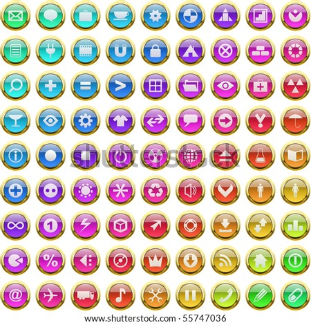 Vector great collection of web buttons.