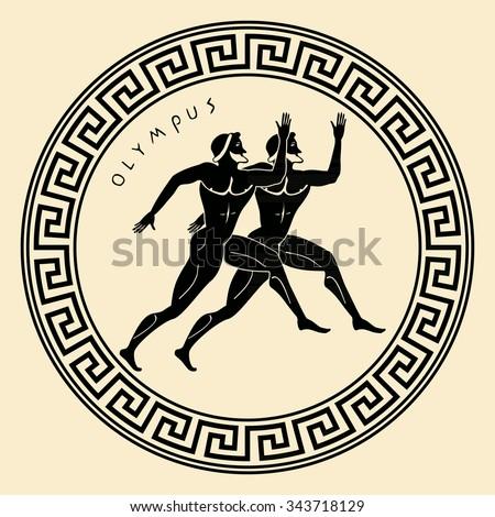 vector greece ornament. temple...