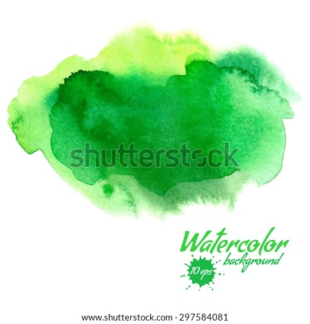 vector green abstract hand