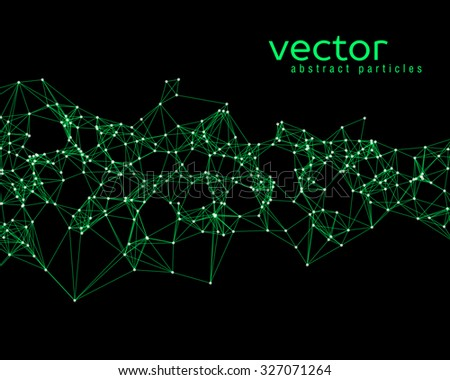 vector green abstract particles