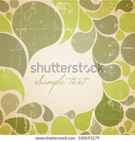 Vector green abstract retro background with place for your text - stock vector