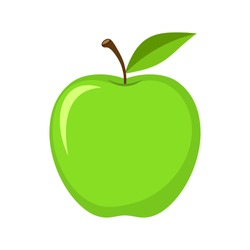 Vector green apple icon