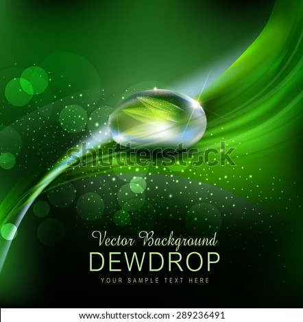 vector green background with