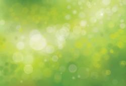 Vector green bokeh background.
