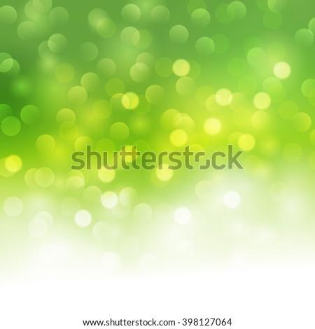 Vector green bokeh light background