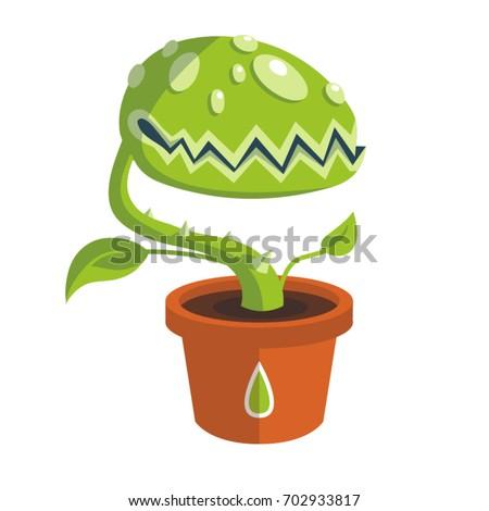 vector green carnivorous plant...