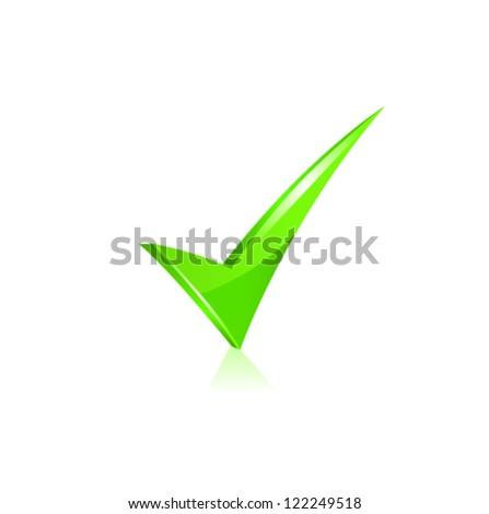 Vector green checkmark set