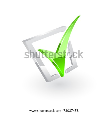 Vector green checkmark. Vector