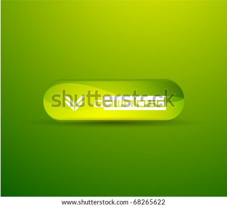 Vector green download button
