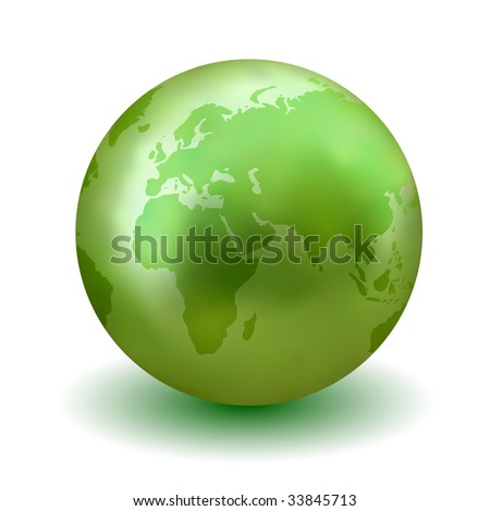 Vector Green Earth Globe - Check My Portfolio for More Like This.