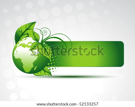 vector green earth with space
